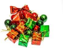 As caixas de presente, casam cristmas Fotos de Stock Royalty Free