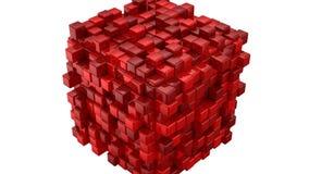 As caixas formam um cubo ilustração do vetor