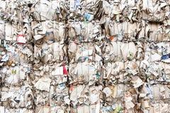As caixas pressionadas feitas do cartão prepararam-se para o recy Fotografia de Stock Royalty Free
