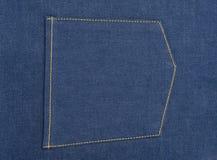 As calças de brim da sarja de Nimes suportam o bolso Fotos de Stock Royalty Free
