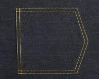 As calças de brim da sarja de Nimes suportam o bolso Imagens de Stock Royalty Free