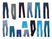 As calças de brim dos homens Foto de Stock