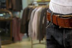 As calças de brim vendem a varejo Imagens de Stock Royalty Free