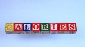 As calorias do termo imagens de stock royalty free