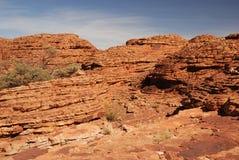 As camadas do sandstone nas abóbadas da colmeia Fotografia de Stock