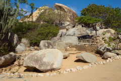 as Caraíbas A ilha de Aruba Parque nacional Arikok Fotografia de Stock