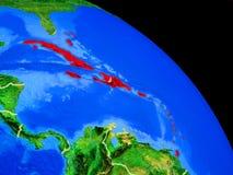 As Caraíbas na terra do planeta ilustração stock
