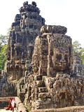 As caras do templo de Bayon no Angkor Wat na emenda colhem a cidade, Camboja em 2012, o 9 de dezembro fotos de stock