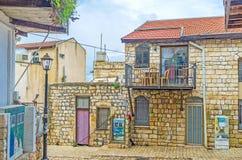 As casas de campo de pedra em Safed Imagens de Stock Royalty Free