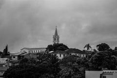 As casas de cidade fotografia de stock royalty free