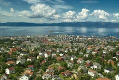 As casas de Trondheim Fotografia de Stock Royalty Free