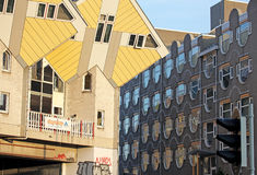 As casas do cubo em Rotterdam, Países Baixos Imagem de Stock