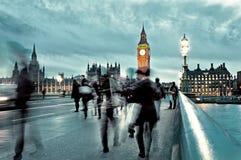 As casas do parlamento britânico em Londres Imagem de Stock Royalty Free