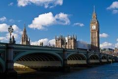As casas do parlamento em Londres Imagem de Stock
