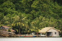 As casas do pernas de pau, alargam o parque nacional, Camboja imagens de stock royalty free