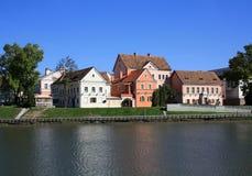 As casas do subúrbio da trindade em Minsk Fotos de Stock Royalty Free