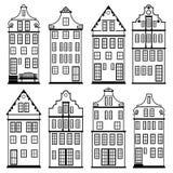 As casas mostram em silhueta o grupo Fotografia de Stock Royalty Free