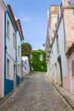 As casas no Santiago fazem Cacem foto de stock royalty free