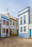 As casas no Santiago fazem Cacem fotos de stock royalty free