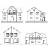As casas vector o grupo Foto de Stock