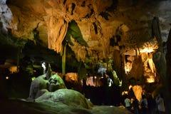 As cavernas de Bétharram, Lourdes, Hautes-Pyrénées, França imagem de stock