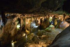 As cavernas de Bétharram, Lourdes, Hautes-Pyrénées, França foto de stock