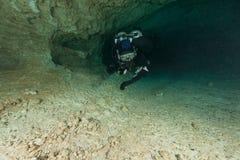 As cavernas subaquáticas Florida de mergulho Jackson Blue dos mergulhadores cavam EUA Foto de Stock Royalty Free