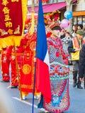 As celebrações chinesas do ano novo desfilam em Paris foto de stock royalty free
