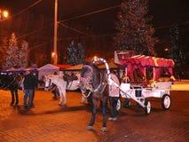 As celebrações de ano novo em Donetsk foto de stock