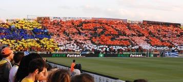 As celebrações do campeonato de APOEL batem, CHIPRE Imagens de Stock Royalty Free