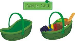 As cestas para o projeto de Web estão vazias e completamente Fotografia de Stock Royalty Free