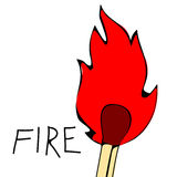 As chamas do fogo, ajustaram ícones, ilustração Fotografia de Stock