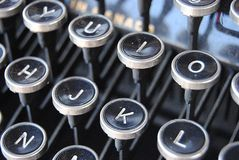 As chaves à escrita foto de stock