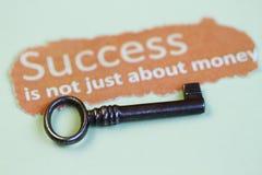 As chaves ao sumário do sucesso Foto de Stock Royalty Free