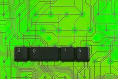 As chaves de teclado apresentaram a palavra 2015 Fotos de Stock Royalty Free