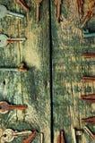 As chaves no fundo de madeira velho de cima com do espaço do texto Fotografia de Stock Royalty Free