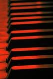 As chaves velhas do piano fecham-se acima Fotos de Stock Royalty Free