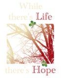 As citações da vida e da esperança incentivam Fotografia de Stock