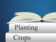 As colheitas de plantação indicam a terra das plantas e a cultura Fotografia de Stock Royalty Free