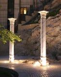 As colunas aproximam a porta do Quran Imagens de Stock