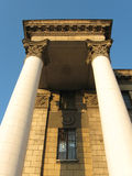 As colunas do estilo do império de Stalin assim chamado Fotos de Stock Royalty Free