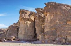 As colunas do rei Solomon em Timna geological estacionam Fotografia de Stock Royalty Free