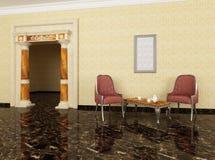 As colunas na entrada ao quarto de recreação Imagem de Stock Royalty Free