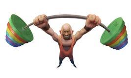 As competições do Weightlifter tomam um peso enorme Imagens de Stock Royalty Free
