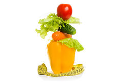 As the concept of healthy food diet Royalty Free Stock Photos