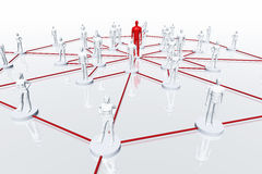 As conexões de rede 3D rendem Fotos de Stock