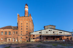 As construções da fábrica velha Imagem de Stock