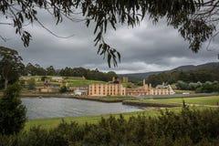 As construções da penitenciária no pena anterior histórico do ` s do Port Arthur imagem de stock royalty free