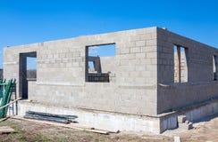 As construções dirigem dos tijolos Fotos de Stock Royalty Free