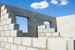 As construções dirigem dos tijolos Fotografia de Stock